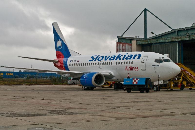 Boeing 737-500 spoločnosti Slovakian Airlines
