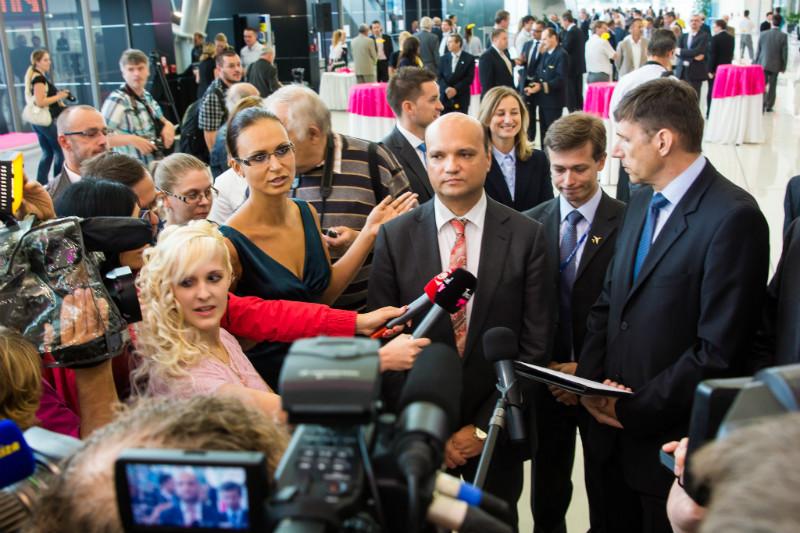 Briefing po otvorení nového príletového terminálu na Letisku Bratislava