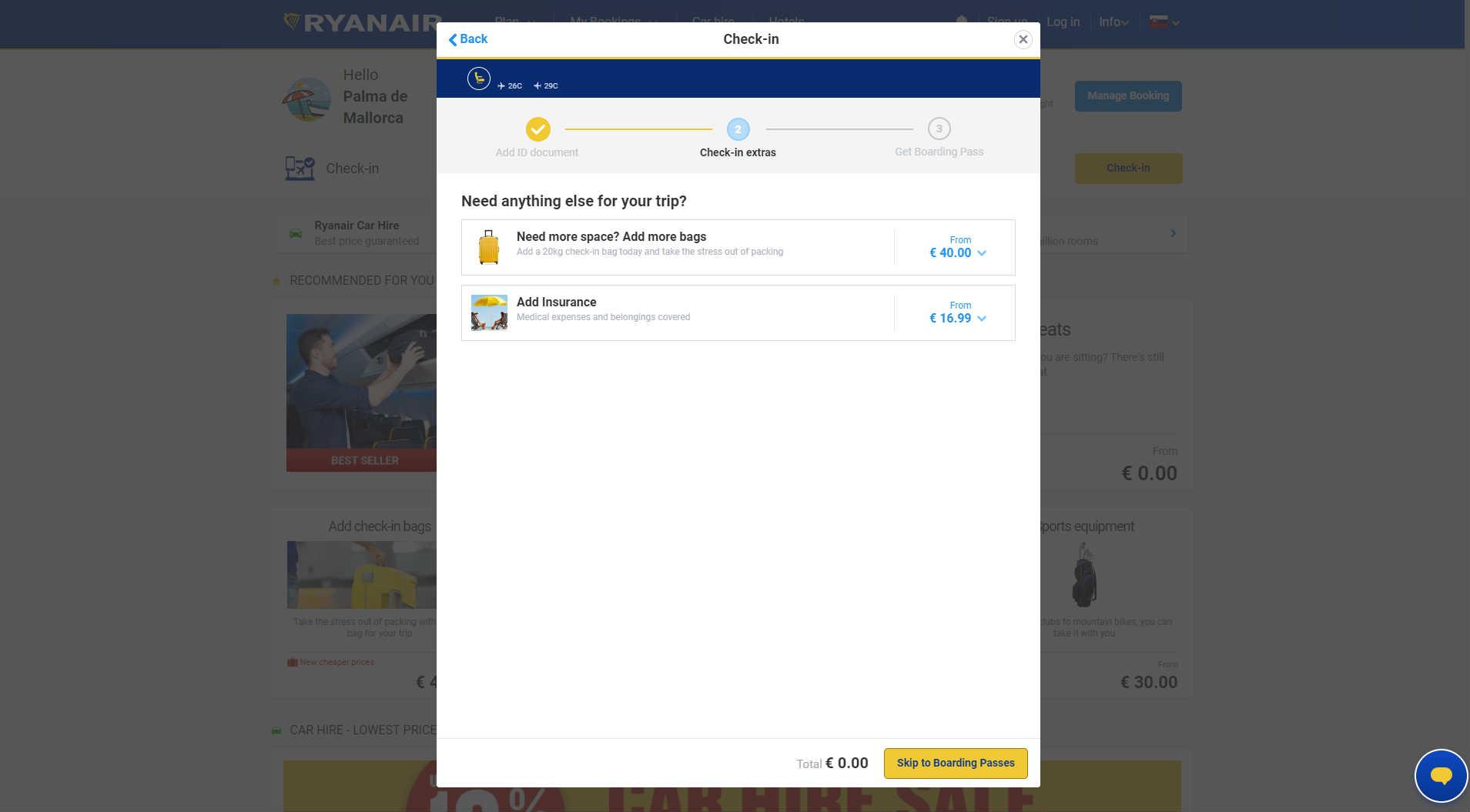 c218a1e5881bd V druhom kroku vám spoločnosť ponúkne možnosť priplatiť si za zapísanú  batožinu alebo si dokúpiť cestovné poistenie. Ak ani o tieto služby nemáte  záujem, ...
