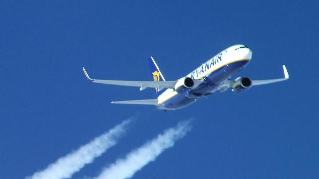 Stúpanie Boeingu 737-800 spoločnosti Ryanair