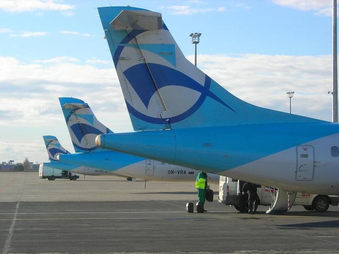 Tri lietadlá ATR spoločnosti Danube Wings