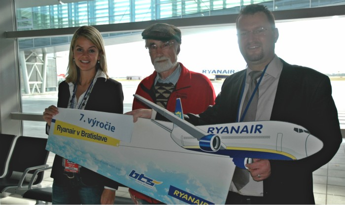 Ryanair oslavuje 7. narodeniny v Bratislave