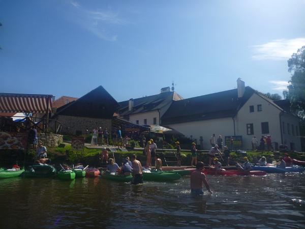 Splav Vltavy v Južných Čechách