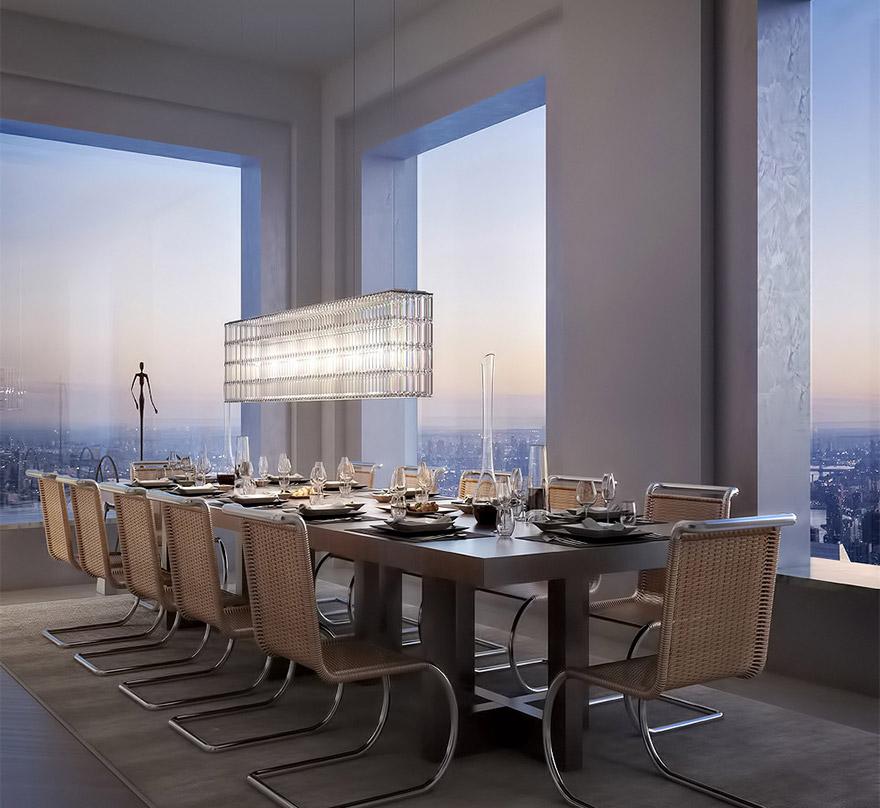 Penthouse v 432 Park Avenue - Jedáleň
