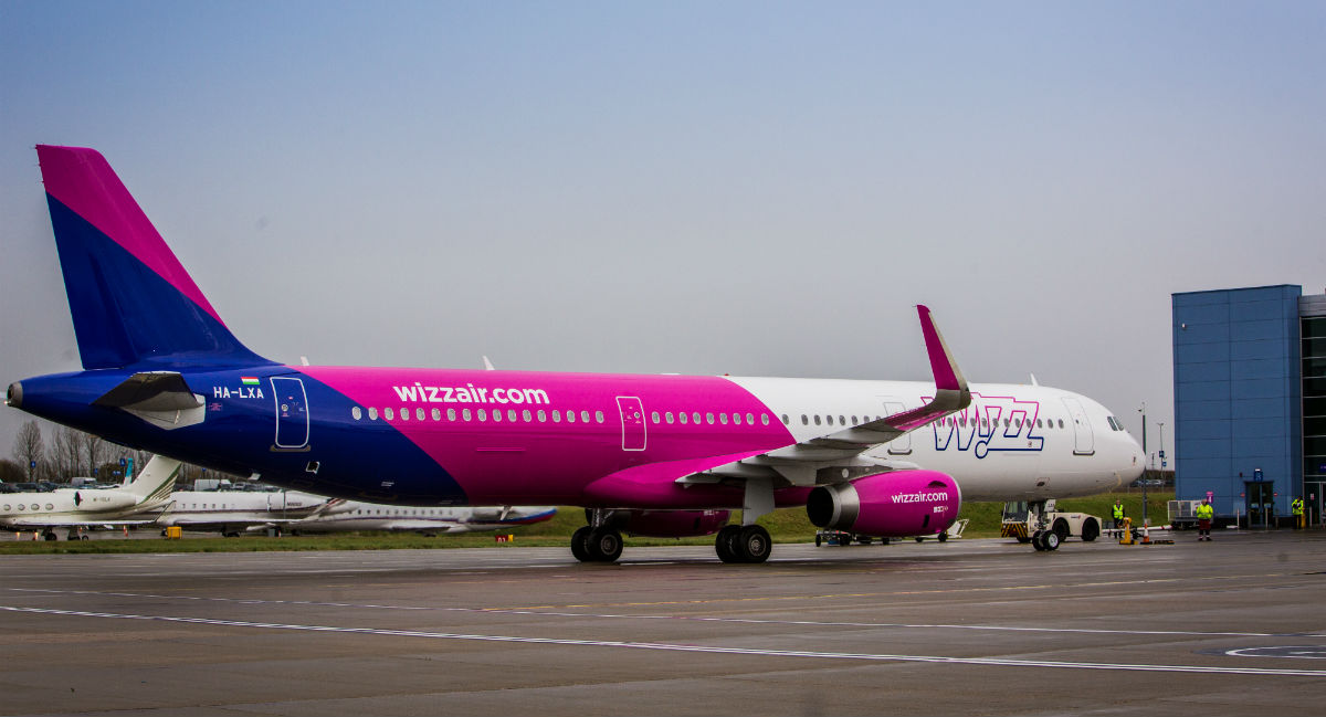 Airbus A321 spoločnosti Wizz Air
